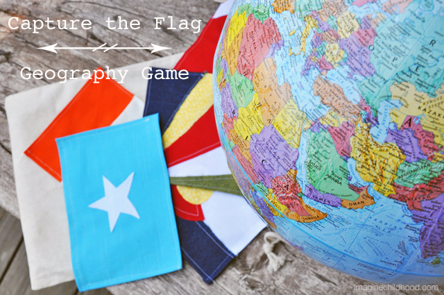Capture the Flag Geography Game via Imagine Childhood