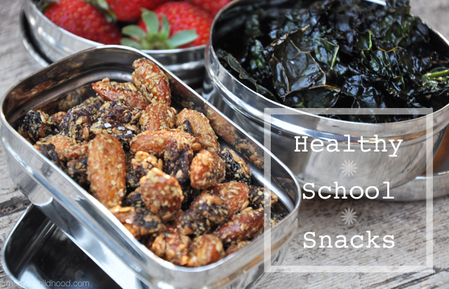 6 Recipes for Healthy School Snacks via Imagine Childhood
