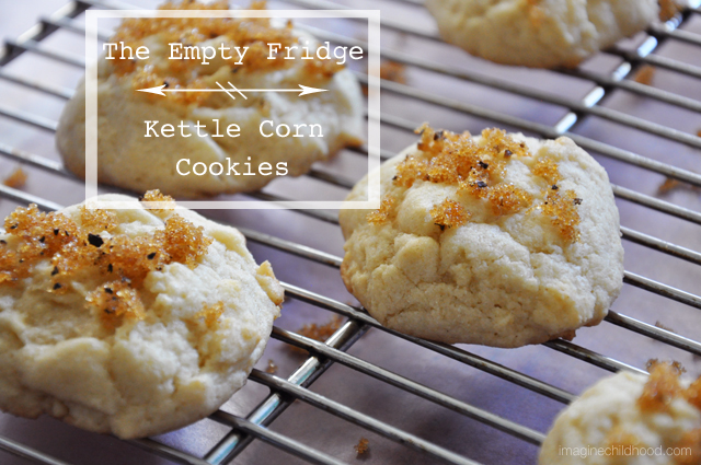 Kettle Corn Cookies AKA Olive oil corn cookies with molasses black pepper sugaring via Imagine Childhood