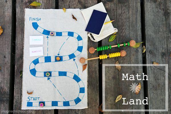 Diy Math Board Game Imagine Childhood Magic Amp Memories