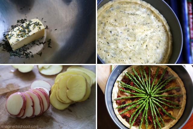 Asparagus Tart Recipe via Imagine Childhood