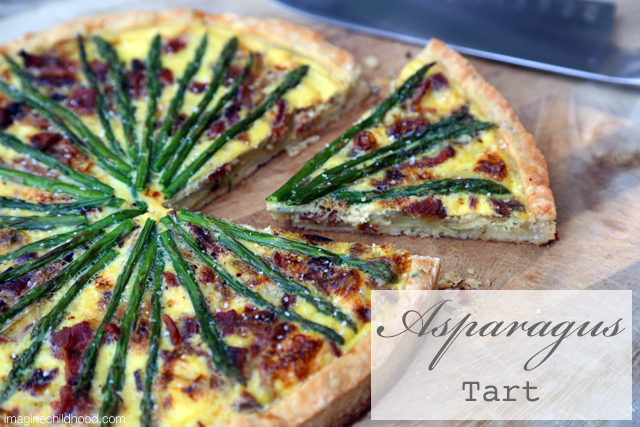 Asparagus Tart Recipe via Imagine Childhood